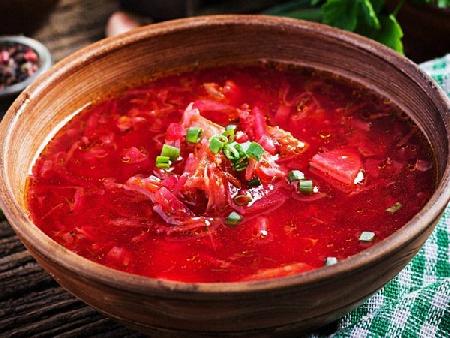 Вегетарианска супа борш с кисело зеле, картофи и червено цвекло - снимка на рецептата
